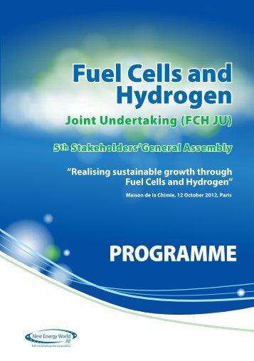 Final Programme - FCH JU