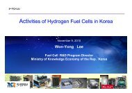 Activities of Hydrogen Fuel Cells in Korea Activities of ... - FCH JU