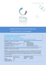 LCA guidance document H2 - FCH JU