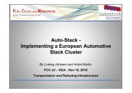 Auto-Stack - Implementing a European Automotive Stack ... - FCH JU