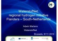 WaterstofNet: regional hydrogen initiative Flanders ... - FCH JU