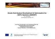 Anode Sub-System Development & Optimisation for SOFC ... - FCH JU
