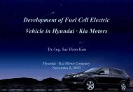 Development of Fuel Cell Electric Vehicle in Hyundai · Kia ... - FCH JU