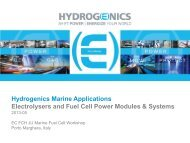 Hydrogenics's boat projects on fuel cell - FCH JU