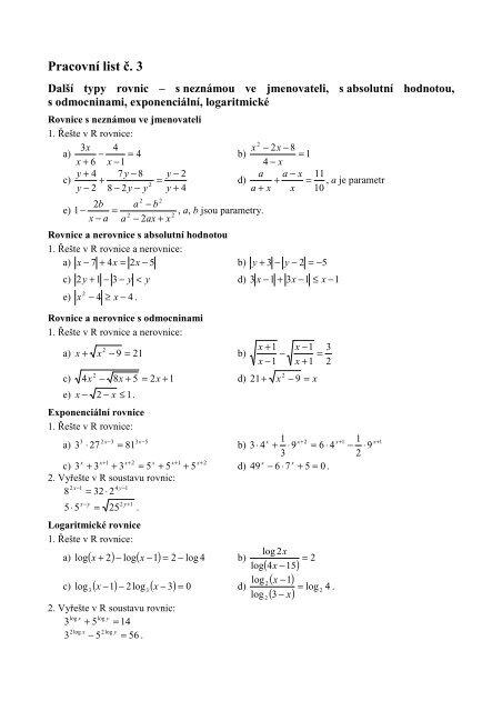 Pracovni List C 3