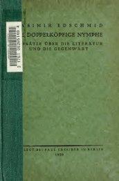 Die doppelköpfige Nymphe; Aufsätze über die ... - Scholars Portal