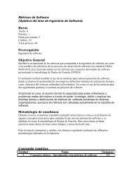 Métricas de Software (Optativa del área de Ingeniería de Software ...