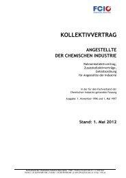 Kollektivvertrag Angestellte 2012 - FCiO