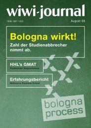 Bologna wirkt! Zahl der Studienabbrecher nimmt ab. - WiWi-Journal