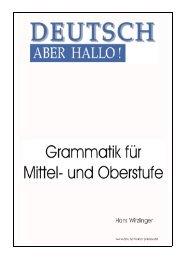 skript grammatik msos - Deutschkurse vhs Passau