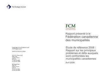 Rapport sur les principaux problèmes et défis auxquels - FCM