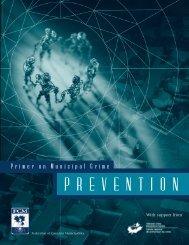 Primer on Municipal Crime Prevention - FCM