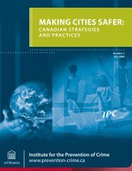 Making Cities Safer Canadian Strategies and Practices - FCM