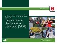 Gestion de la demande en transport (GDT) - FCM