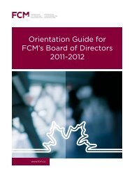 Orientation Guide for FCM's Board of Directors 2011-2012