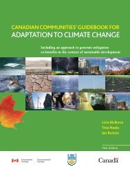 Canadian Communities' Guidebook for Adaptation to Climate ... - FCM