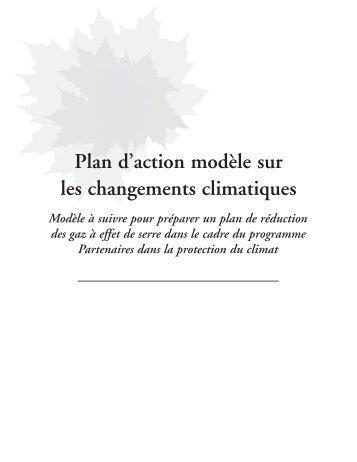 Plan d'action modèle sur les changements climatiques - FCM