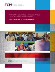 Promoting EquitablE and SuStainablE local Economic ... - FCM