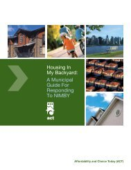 Housing In My Backyard: A Municipal Guide For ... - City of Toronto