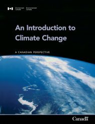 An Introduction to Climate Change - A Canadian Perspective