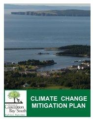 Climate Change Mitigation Plan - Town of Conception Bay - FCM