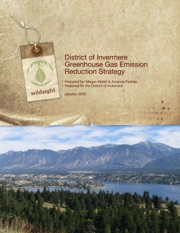 District of Invermere Greenhouse Gas Emission Reduction Strategy