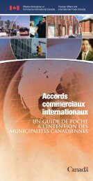 Accords commerciaux internationaux - Un guide de poche à l - FCM