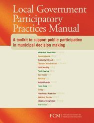 Local Government Participatory Practices Manual - FCM