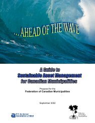 Guide to Sustainable Asset Management for Canadian ... - FCM