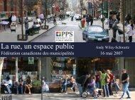 La rue, une espace public - FCM