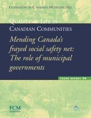 Mending Canada's frayed social safety net - FCM