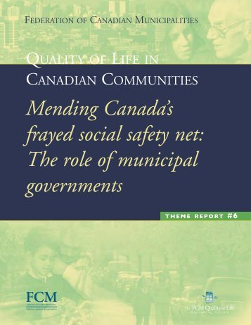 Mending Canada's frayed social safety net - FCM