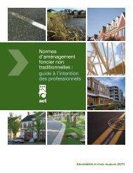 Normes d'aménagement foncier non traditionnelles : guide à l ... - FCM