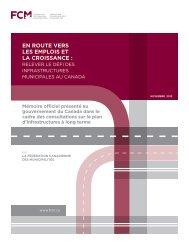 En route vers les emplois et la croissance : Relever le défi ... - FCM