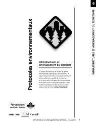 Infrastructures et aménagement du territoire - FCM