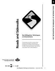 Rut Mitigation Techniques at Intersections - FCM