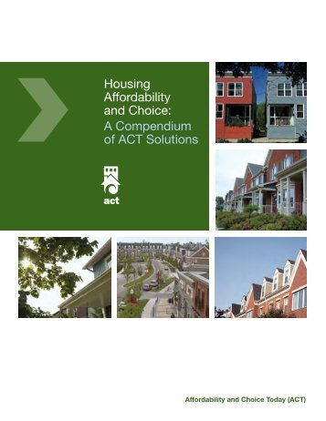 Housing Affordability and Choice: A Compendium of ACT ... - FCM