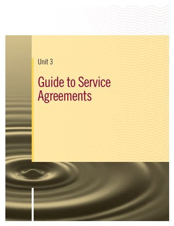 Guide to Service Agreements - FCM