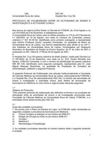 Hospital de Santa Cruz SA - Faculdade de Ciências Médicas da ...