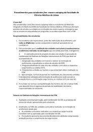Regulamento de free-mover - Faculdade de Ciências Médicas da ...