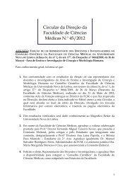 Circular da Direção da Faculdade de Ciências Médicas N.º 45/2012