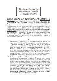 CIRC N. 39/2013 - Faculdade de Ciências Médicas da Universidade ...
