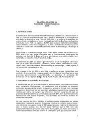 Relatório de Gestão 2004 - Faculdade de Ciências Médicas ...