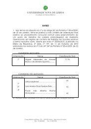 Lista Final - Faculdade de Ciências Médicas - Universidade Nova ...