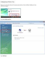 Configuração para Windows Vista Clique no icon de rede na barra ...