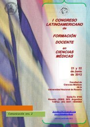 1er. congreso latinoamericano de formacion docente - Facultad de ...
