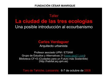 Materiales primera sesión - Fundación César Manrique