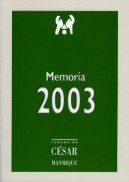 dep art amento de conser v ación y - Fundación César Manrique