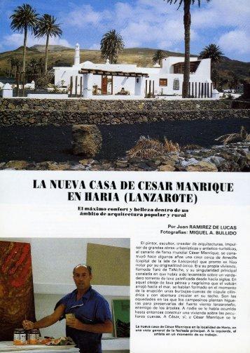 Reportaje sobre la casa en revista TG - Fundación César Manrique
