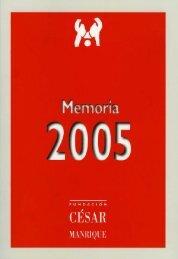 Memoria 2005 - Fundación César Manrique